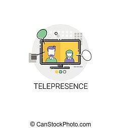 Telepresence Virtual Reality Visual Technology Icon Vector...