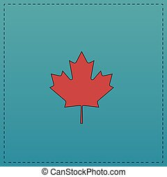 Canadian Leaf computer symbol - Canadian Leaf Red vector...