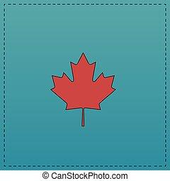 Canadian Leaf computer symbol - Canadian Leaf Red vector...