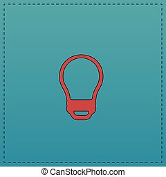 Led Bulb computer symbol - Led Bulb Red vector icon with...