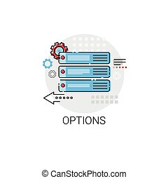 Options Sign Choose Direction Way Signboard Arrow Icon...