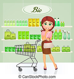 bio shop - illustration of bio shop