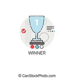 Winner Cup Top Award Success Business Icon Vector...