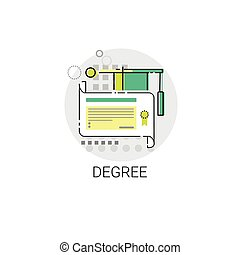 Knowledge Elearning Degree Education Online Icon Vector...