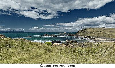 australia coast - An image of the australian coast with...