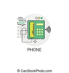 Phone Receiver Call Telephone Icon Vector Illustration