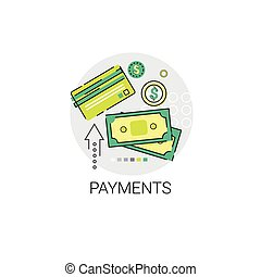 Credit Bank Card Payment Online Icon Vector Illustration