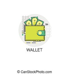 Money Wallet Icon Business Investment Online Banking Vector...