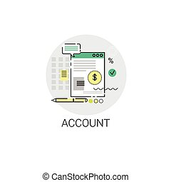 Account Finance Budget Planning Business Icon Vector...