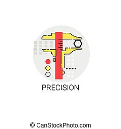 Precision Industry Production Quality Icon Vector...