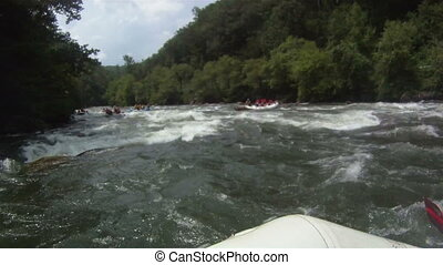 Rafting - white water rafting pov hd footage