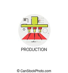 Industry Production Technology Automation Icon Vector...