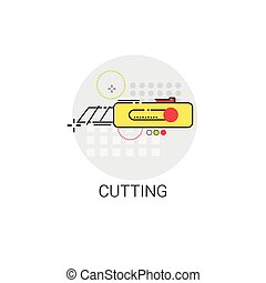 Cutting Tool Building Construction Engineering Toolbox Icon...
