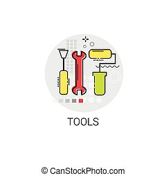 Tool Building Construction Engineering Toolbox Icon Vector...