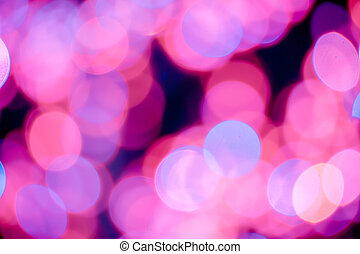 Red, pink, white, yellow and turquoise Chrismas lights bokeh