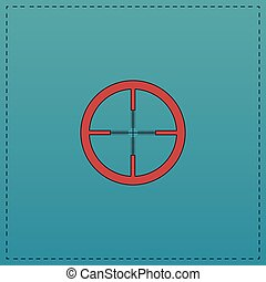 Crosshair computer symbol - Crosshair Red vector icon with...