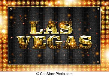 Blinking Las Vegas Sign Conceptual Illustration. Las Vegas,...