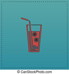 lemonade computer symbol - lemonade Red vector icon with...