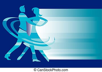Ballroom dancing background. - Background with a couple of...