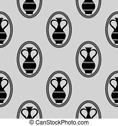 Greek Vase Seamless Pattern