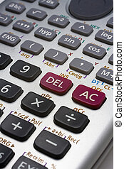 calculater close up on the function botton