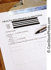 Health Insurance Claim Form - A closeup of a blank health...