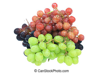 Grapes - A photo of some grapes set against a white...