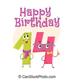 Fourteenth birthday Vector Clipart EPS Images. 82 ...