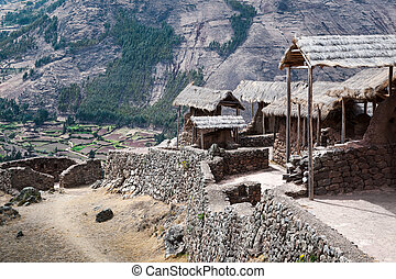 stronghold in the mountains - inca ancient stronghold in the...