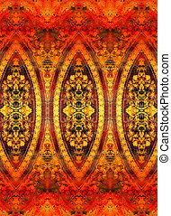 filigrane floral ornament on abstract backgrond, computer...