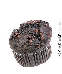 Chocolate Muffin - A photo of a chocolate muffin set against...