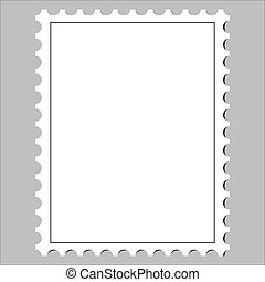 postage stamp - clean postage stamp, template, icon on white...