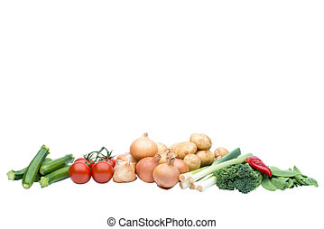 A selection of fresh raw vegetables - Selection of fresh raw...