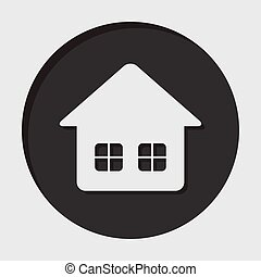 information icon - home with two windows