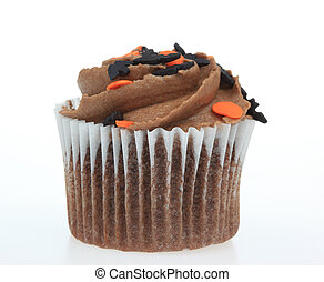 Chocolate Cupcake - A photo of a chocolate cupcake set...