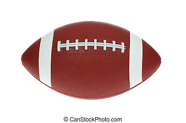 American Football - A photo of a brown football set against...