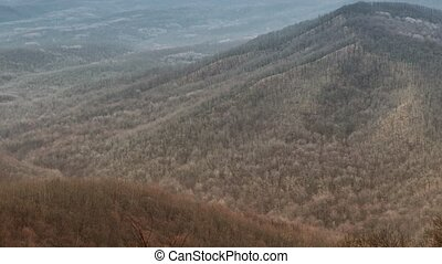 Caucasus Mountains - Autumn landscape with the Russian...