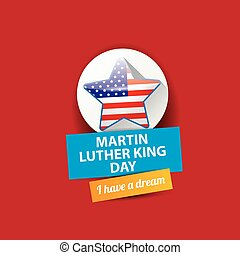 vector Martin Luther King day us sticker or label - vector...
