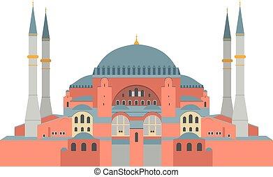 Hagia Sophia vector illustration. Istanbul (Turkey)