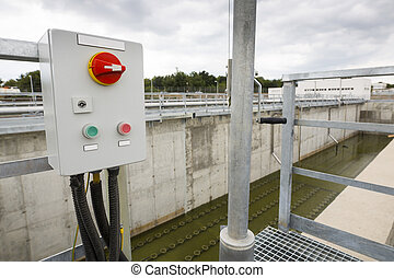 Wastewater treatment facility switchboard - Wastewater...