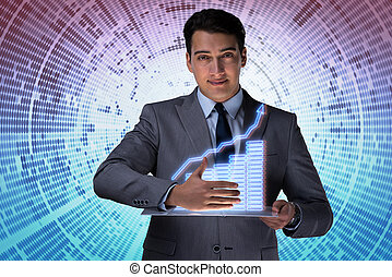 Man in stock trading business concept