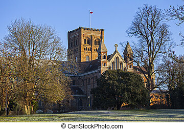 St. Albans Cathedral - A view of the historic St. Albans...