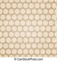 Brown background with circles, swirl pattern .