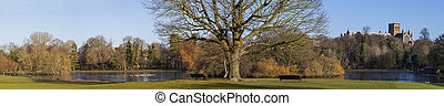 St. Albans Panorama - A panoramic view of Verulamium Park in...