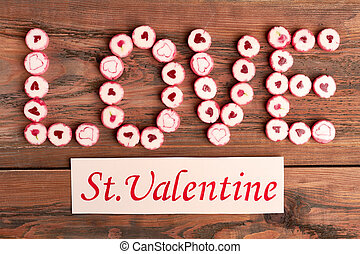 Saint Valentine's Day greeting card.