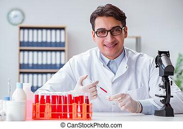jeringuilla, joven,  doctor