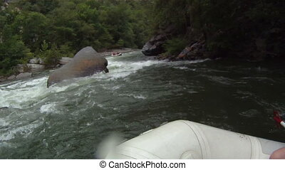 River Rafting - white water rafting pov hd footage