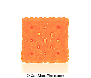 Orange Cracker - A photo of an orange cracker set against a...
