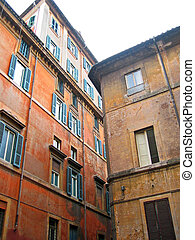 Typical old houses in Rome