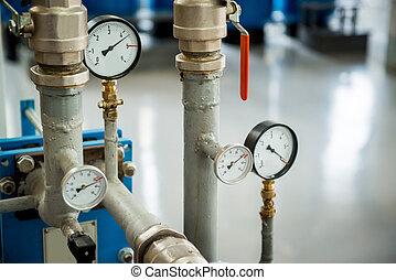 Modern boiler room equipment- high power burner - Modern...